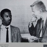 SNCC leader John Lewis (left) and Jim Zwerg after being beaten during the Freedom Rides (Photo credit: Wikipedia)
